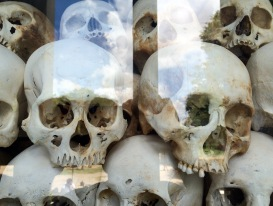 It contains more than 5.000 human skulls and several of the tools used to kill