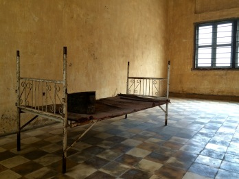 Bare rooms, with only the objects used for torture in display