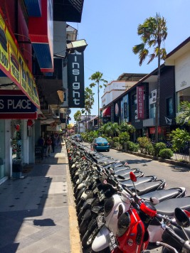 There's three things in abundance in Kuta: tourist shops, 2 for 1 drink specials, and rental scooters