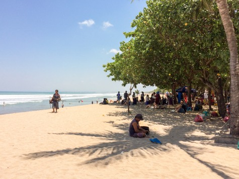 Kuta's beach is pretty nice, but it can be crowded