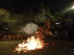 After the Kecak there was a second show with a crazy guy dancing through flames!