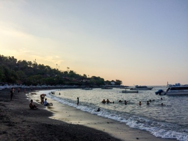 Enjoying a late afternoon in one of Amed's many beaches