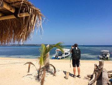Verne taking our last photo in Gili...