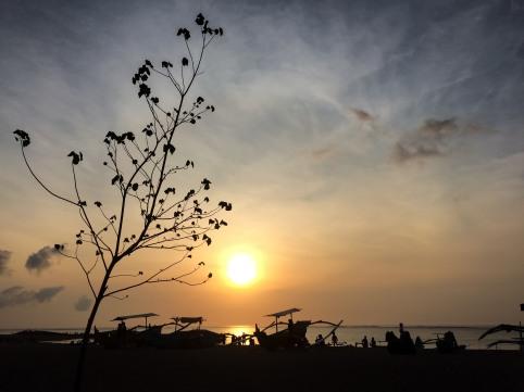 Beautiful sunset at Kuta