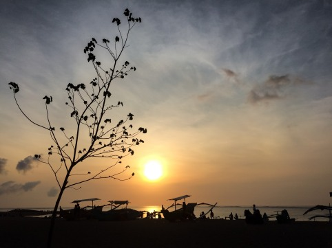 Beautiful sunset at Kuta