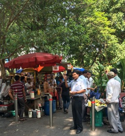 Street carts are a popular choice for lunch