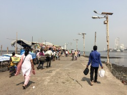 The causeway has rows upon rows of street vendors...