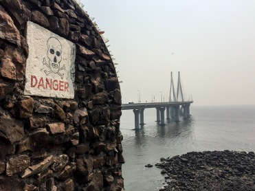 "The Bandra Fort, which now overlooks the Worli Sea Link, was built by the Portuguese in 1640. Its original name was ""Castelo da Aguada"", or ""Castel of the Waterpoint"", a place where ships could get fresh water"