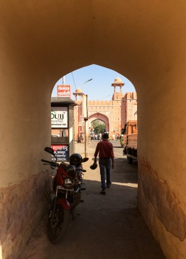 Notice the Mughal architectural cues on the arches and towers. We'll also be seeing plenty of this in Agra
