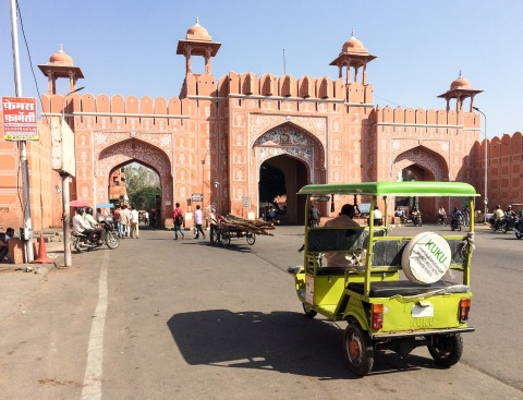 The Ajmeri Gate, part of the city wall that used to surround old Jaipur