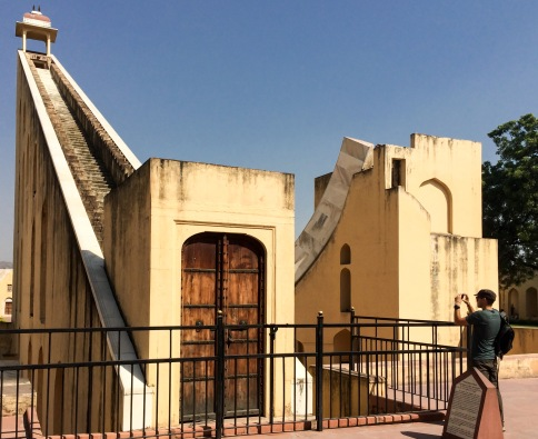 Verne takes a photo of Brihat Samrat Yantra, the giant sundial used to tell time with an accuracy of 2 seconds