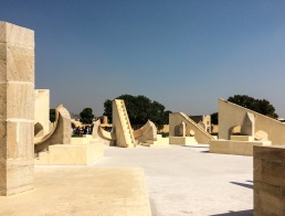 Some of the twelve Rashi Malaya Yantra instruments at Jantar Mantar