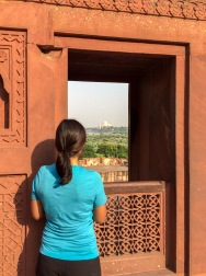 Jules catches a glimpse of the Taj Mahal...