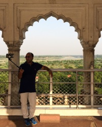 The 17th century Khas Mahal meets the 21st century selfie craze