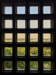 ... from one of the many Agra Fort's windows that face the Taj Mahal
