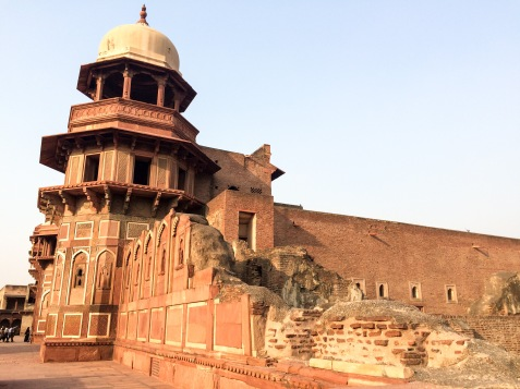 Some parts of the Agra Fort are not yet renovated