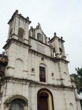 An old Portuguese church in north Goa