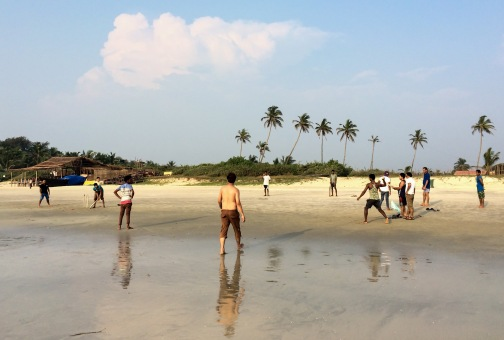 ... as well as the ocasional cricket match by the beach!
