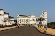 Facade of the 'Sé Catedral' in Goa