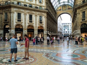 Strolling through the Milan Shopping Mall