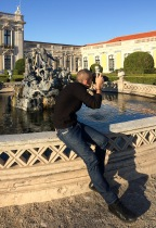 Verne snapping pictures at Queluz Palace (Lisbon, Portugal)