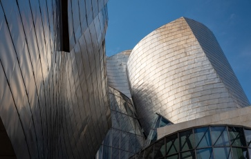 Detail of the Guggenheim Museum entrance, Bilbao, Spain (PPL1-Corrected)