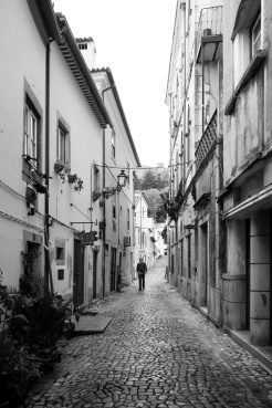 A charming cobblestone street, Tomar, Portugal (18mm, 1/240s, f3.5, ISO 250)