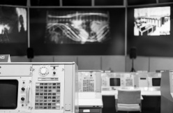 The original Apollo Mission Control, NASA Space Center, Houston (35mm, 1/60s, f2, ISO 2500)