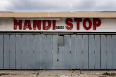 Abandoned garage in Westchase, Houston (35mm, 1/400s, f9, ISO 200)
