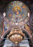 Interior of a Greek Orthodox Church at Filoti, Naxos (16mm, 1/60s, f1.4, ISO 2000)