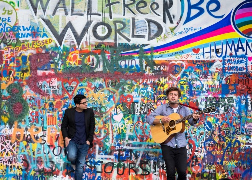 A new Lennon?, Lennon Wall, Prague (35mm, 1/160s, f3.2, ISO 200)