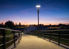 Dusk at the new bridge over the Sor river, Ponte de Sor, Portugal (16mm, 1/6s, f1.4, ISO 200)