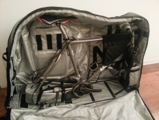 Packing up the bike for a plane ride (Lisbon, Portugal)