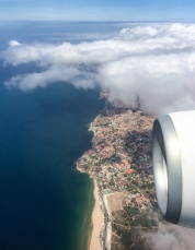 Leaving sunny Lisbon...