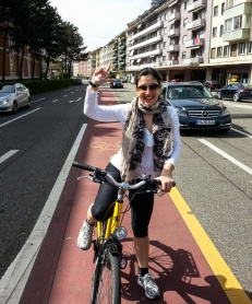 Jules cycles to the German part of Basel