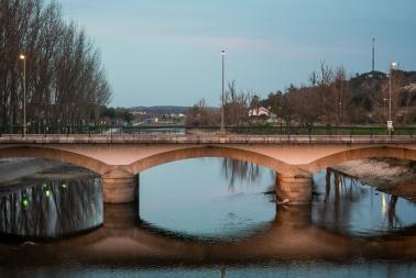 Bridge over river Sor (Ponte de Sor, Portugal)