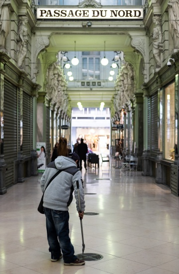 Passage du Nord, a beautiful galeria designed by architect Henri Rieck (Brussels, Belgium)