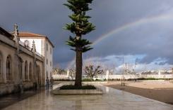 ... including this auspicious rainbow