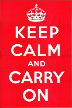 "The original ""Keep calm"" poster from 1939 (Source: Wiki Commons)"