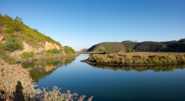 The Seixe river, near Odeceixe, Portugal (2-picture panorama, 16mm, 1/420s, f6.4, ISO 200)