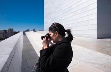 Jules and Gabriel at the Opera House, Oslo, Norway (16mm, f1.4, 1/20000s, ISO 200, PPL1-Corrected)
