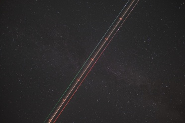 Before: A plane crosses the Milky Way, Crete, Greece (16mm, 20s, f1.4, ISO 640, PPL0-Raw)