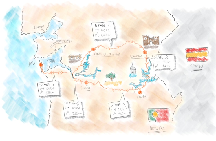 The route of the Grand Tour of Alentejo