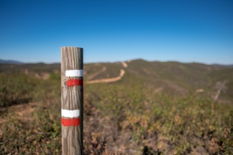 Via Algarviana marker near Silves, Algarve, Portugal (16mm, f1.4, 1/12800s, ISO 200, PPL1-Corrected)