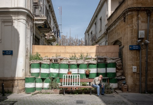 Buffer zone barricade, Nicosia, Cyprus (18mm, f5.6, 1/750s, ISO 200, PPL1-Corrected)