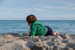 Gabriel's first glimpse of the Mediterranean Sea, Landa Beach, Cyprus (40mm, f5.6, 1/550s, ISO 200, PPL1-Corrected)