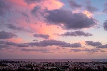 Sunset at Paphos, Cyprus (35mm, f2, 1/90s, ISO 200, PPL1-Corrected)