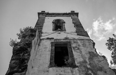 Old Urzelina Church ruins, São Jorge, Azores, Portugal (3-picture composite, 18mm, f6.4, 1/1700s, ISO 200, PPL2-Enhanced)