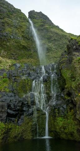 Cascata do Poço do Bacalhau, Flores, Azores (4-picture composite panorama, 18mm, f11, 1/7s, ISO 1250, PPL2-Enhanced)