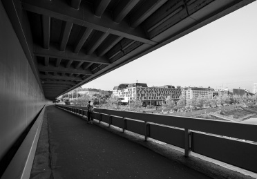 Most SNP bridge, Bratislava, Slovakia (3-picture composite, 10mm, f5.6, 1/240s, ISO 200, PPL3-Altered)